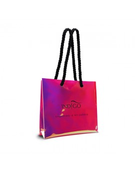 Holograficzna torba zakupowa - różowa